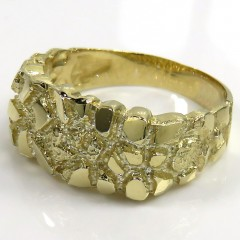 10k Yellow Gold Rectangular Nugget Ring