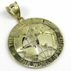 10K Yellow Gold Medium The World Is Yours Pendant