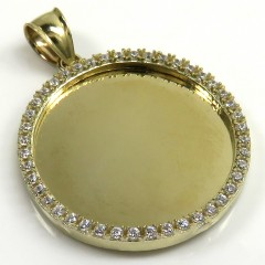 10k Yellow Gold Medium Cz Picture Pendant 0.75ct