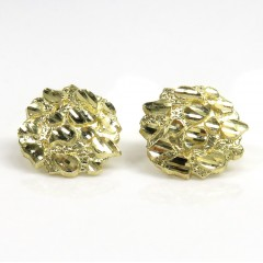 14k Yellow Gold Medium Nugget Earrings