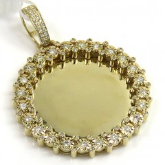 10k Yellow Gold Medium Diamond Illusion Picture Pendant 0.63ct