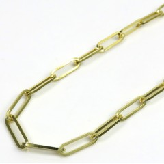 10k Yellow Gold Solid Paper Clip Chain 16-22 Inch 4.20mm