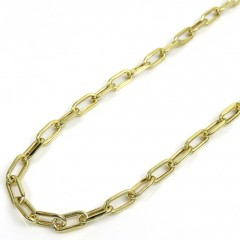 10k Yellow Gold Hollow Paper Clip Chain 16-22 Inch 3.70mm