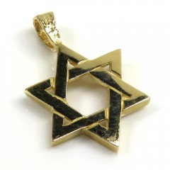 14k Yellow Gold Mini Jewish Star Of David Pendant