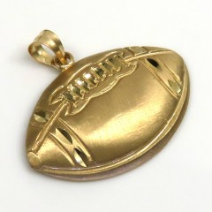 14k Yellow Gold Small Foot Ball Pendant