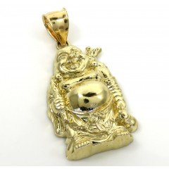 10k Yellow Gold Small Fat Buddha Pendant
