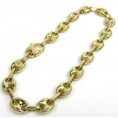 14k Yellow Gold Hollow Gucci Puffed Link Bracelet 7.20mm 8.25'
