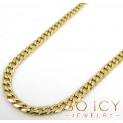 10k Yellow Gold Skinny Cuban Chain 16-24 Inch 2.0mm
