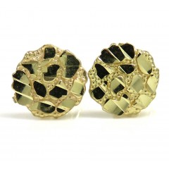 10k Yellow Gold Mini Nugget Earrings