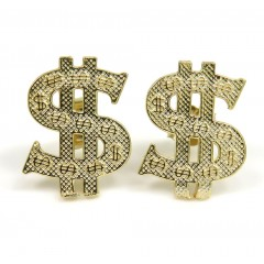 10k Yellow Gold Dollar Sign Earrings