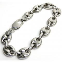 .925 Silver Gucci Puff Bracelet 8 Inch 11mm