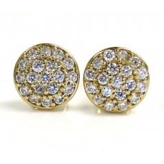 14k Yellow Gold Vs Diamond Snow Cap 8.4mm Earrings 0.60ct