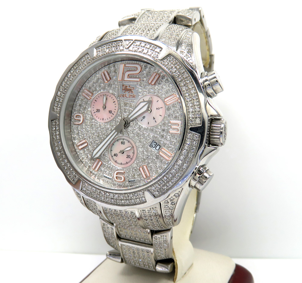Diamond icelink aqua terra mens watch 7.00ct