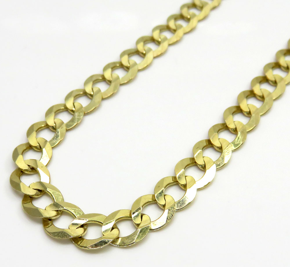 10k yellow gold solid cuban chain 20-30 inch 8.5mm