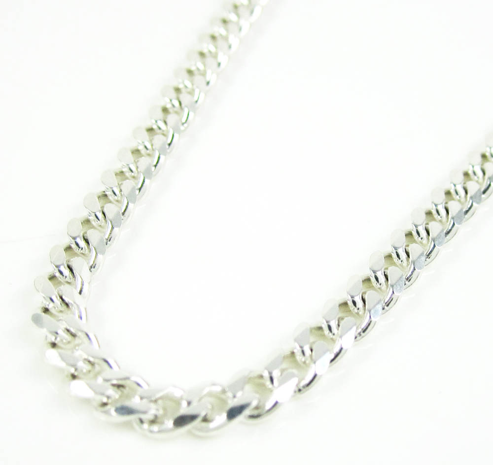 5fac8f7ffcb33 925 Sterling Silver Tight Cuban Link Chain 30 Inches 3.60mm