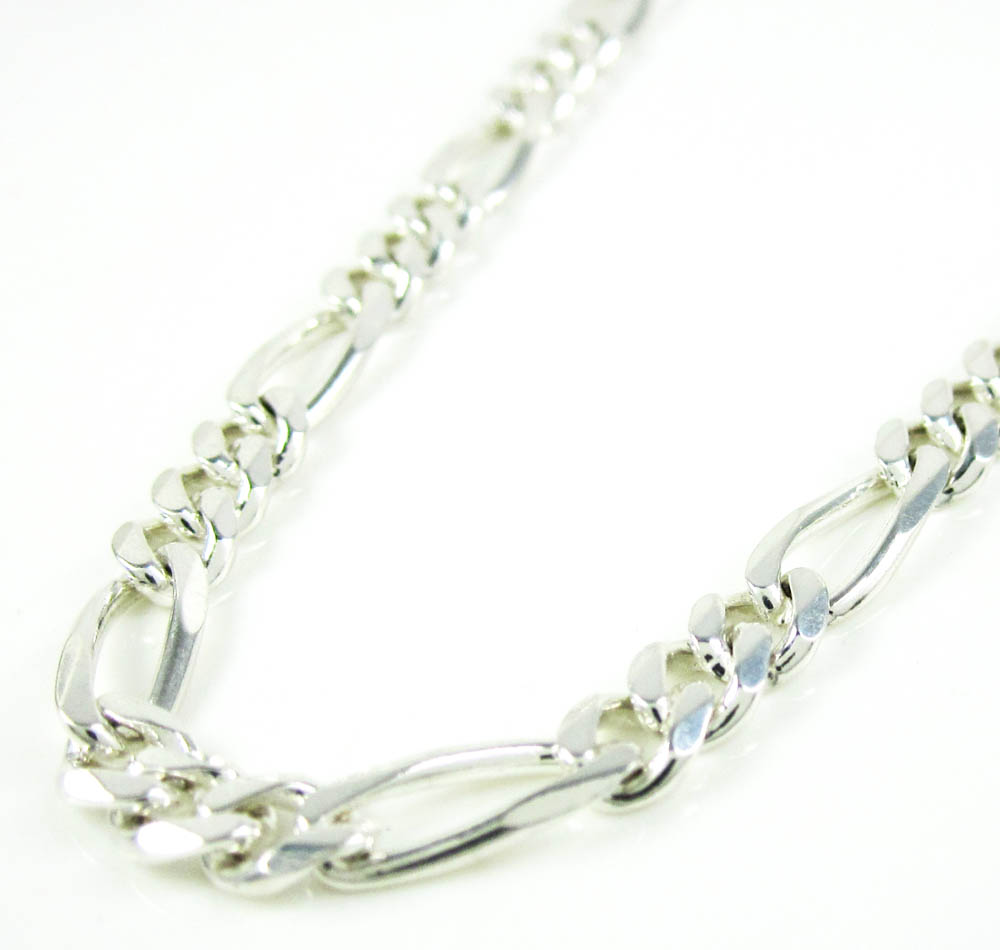 925 sterling silver figaro link chain 20 inch 4.20mm