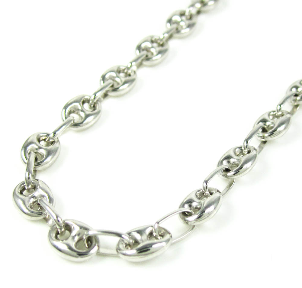4a57838436a 14K White Gold Gucci Link Chain 22 Inch 4.80mm