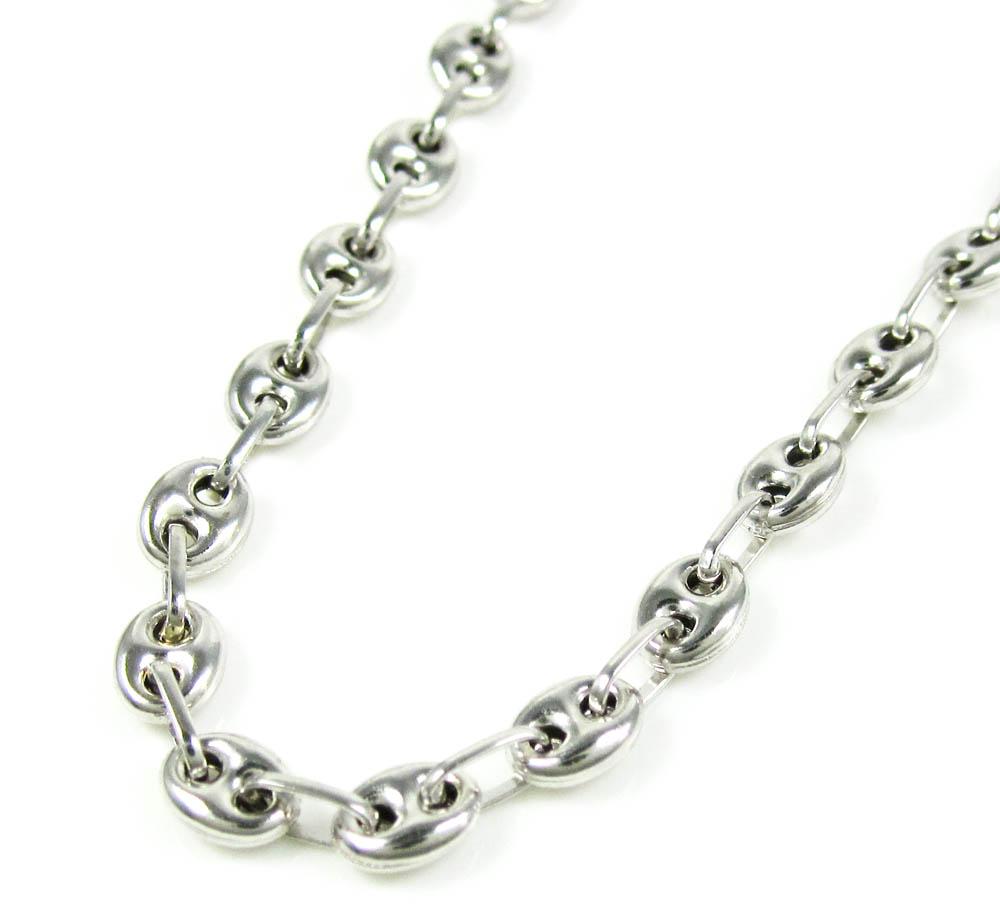 b48ada4c0ad 14K White Gold Gucci Link Chain 20 Inch 4.10mm