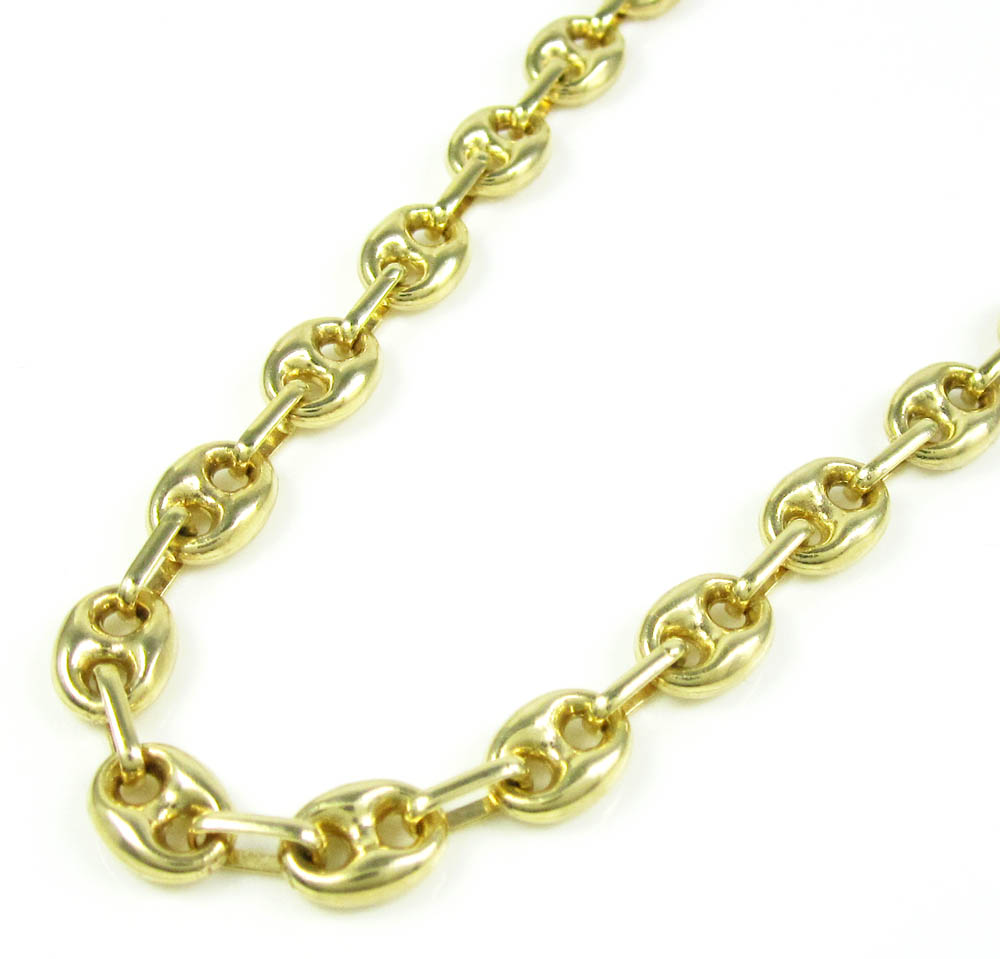 1353f9940e310 14K Yellow Gold Gucci Link Chain 30 Inch 6.30mm