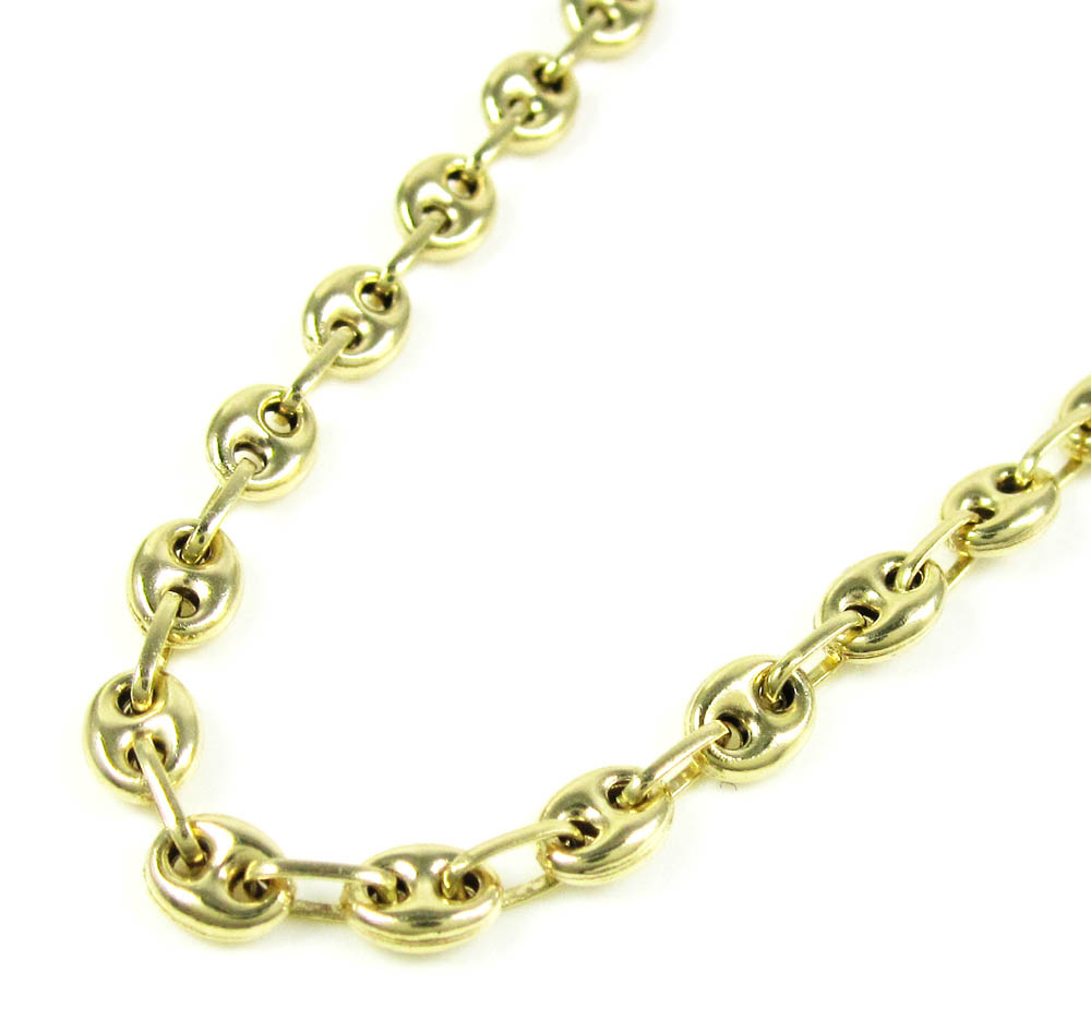 14k yellow gold gucci link chain 24 inch 4.10mm