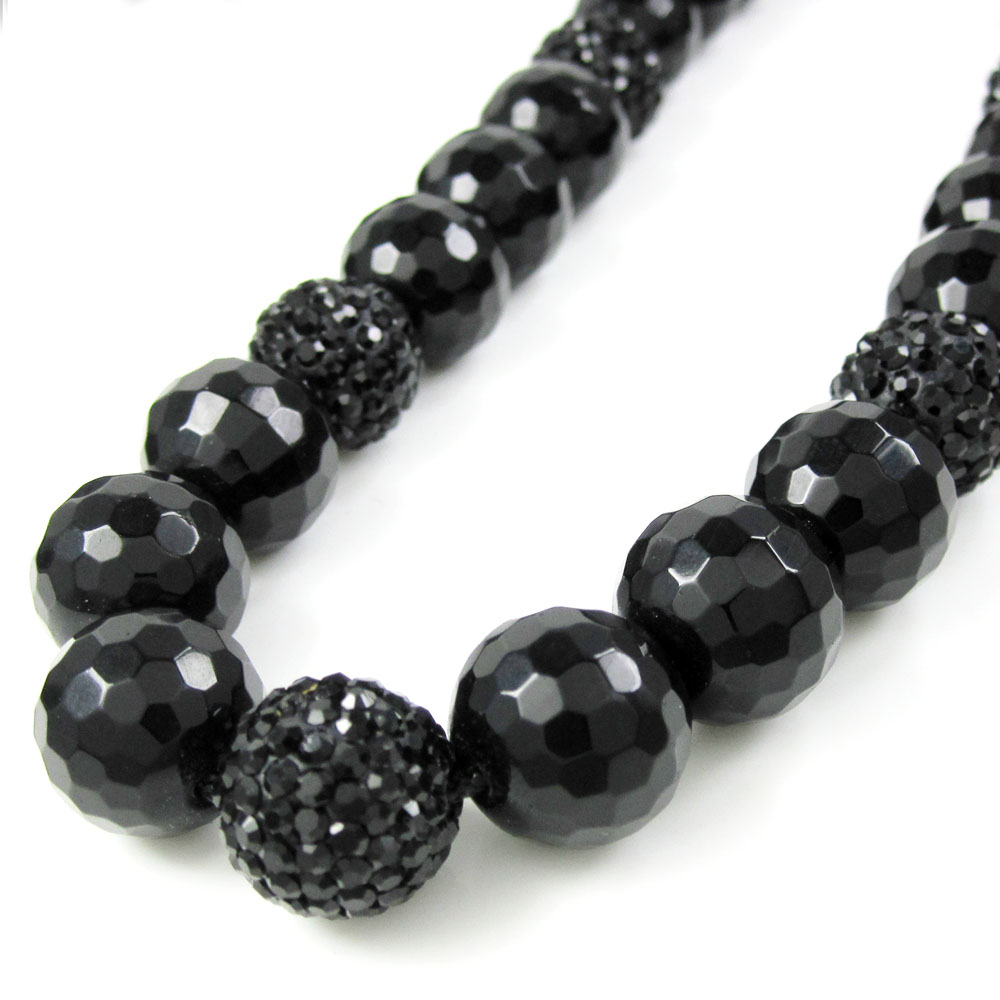 onyx jewelry tassel black tiffany ziegfeld co pearl necklace and chains