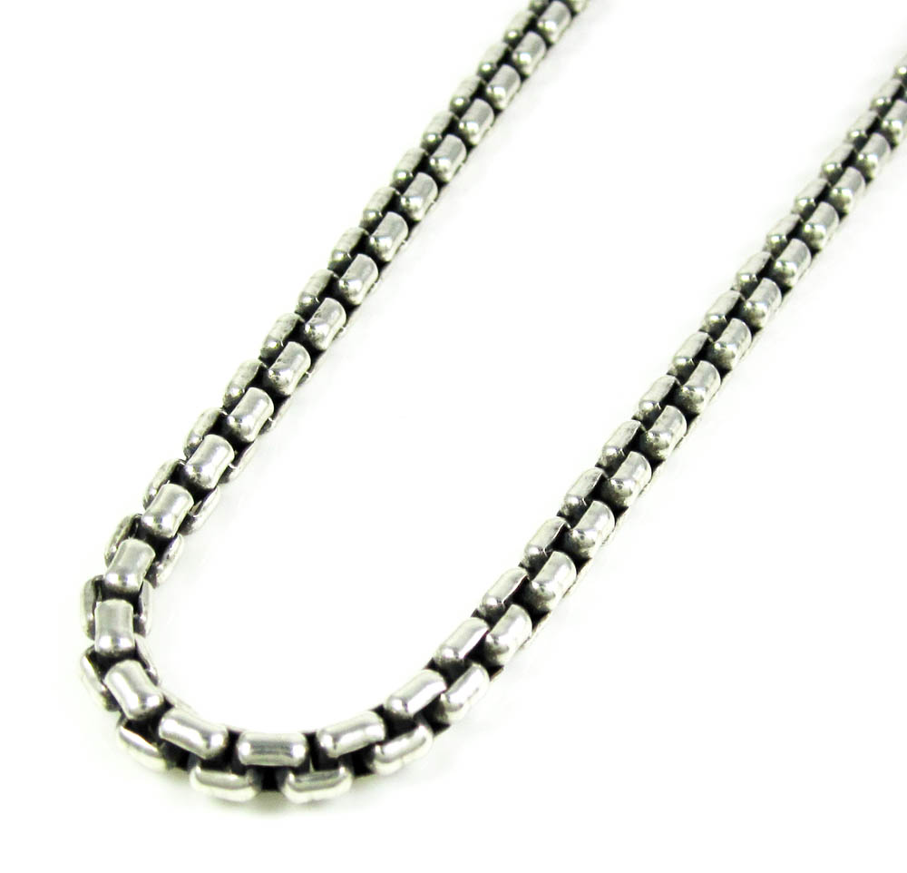 925 Sterling Silver 4.75mm diamond-cut Rope Chain Necklace 22inch