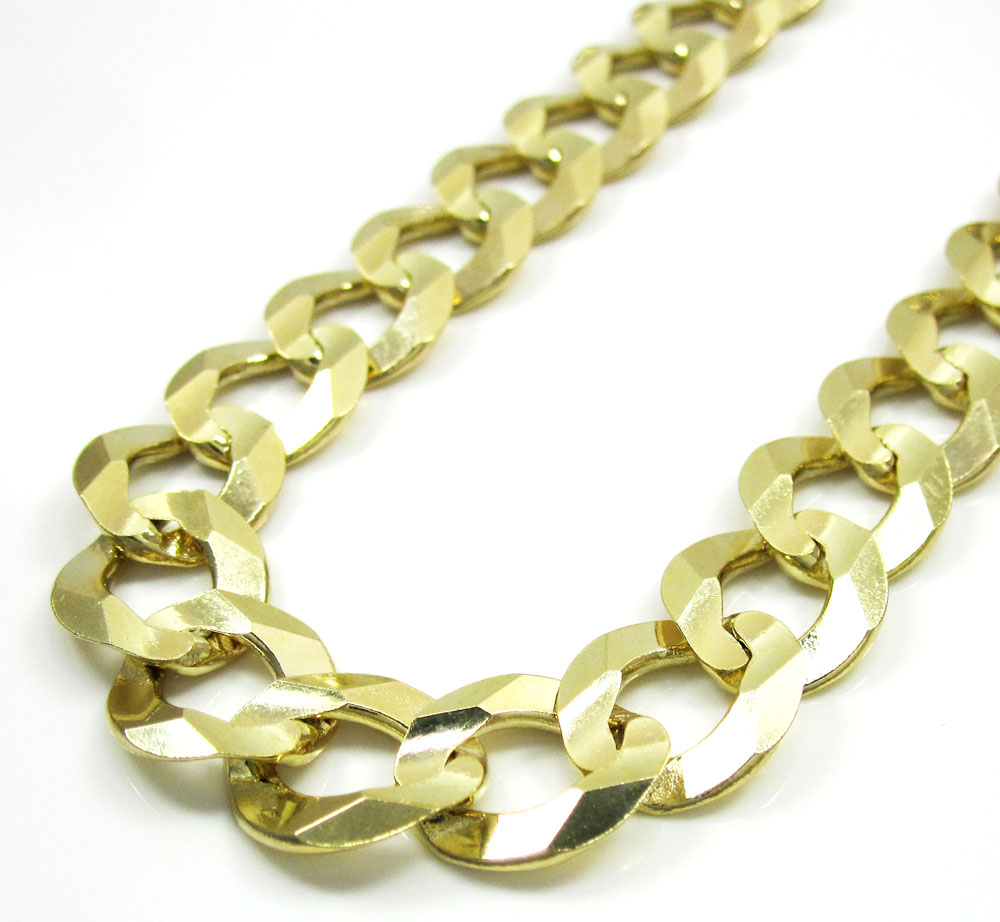 10k yellow gold thick cuban chain 26-40 inch 11.5mm