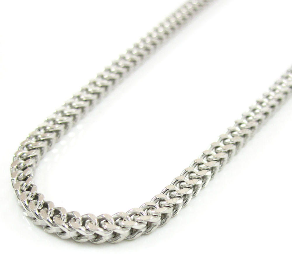 10k white gold franco chain 18-36 inch 2.2mm