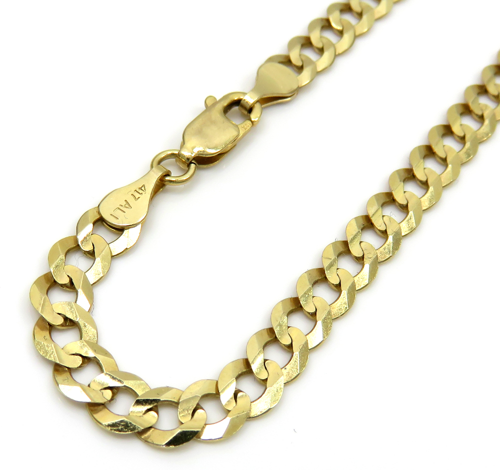 10k yellow gold cuban bracelet 8.5 inch 4.75mm