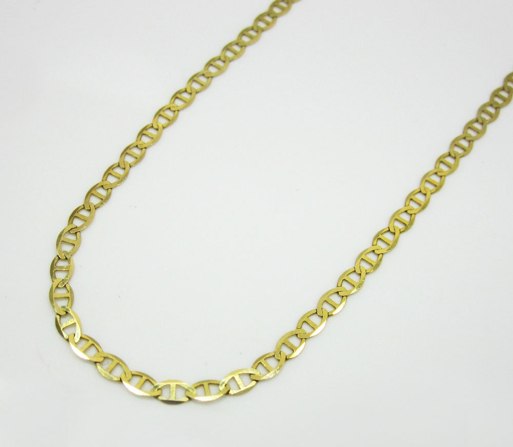 itm gold diamond rope lobster n cut clasp real necklace yellow chain