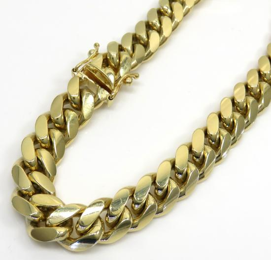 10k yellow gold thick miami bracelet 9 inch 8.3mm