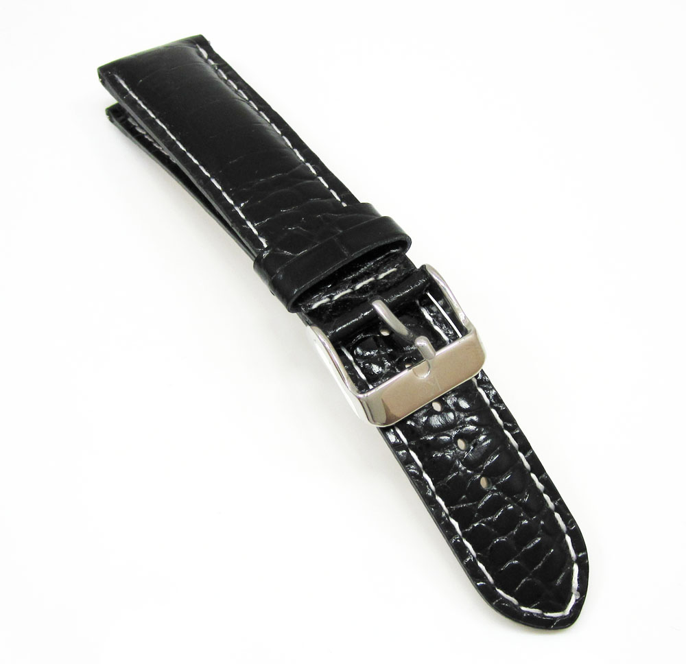 Kc techno com black leather band