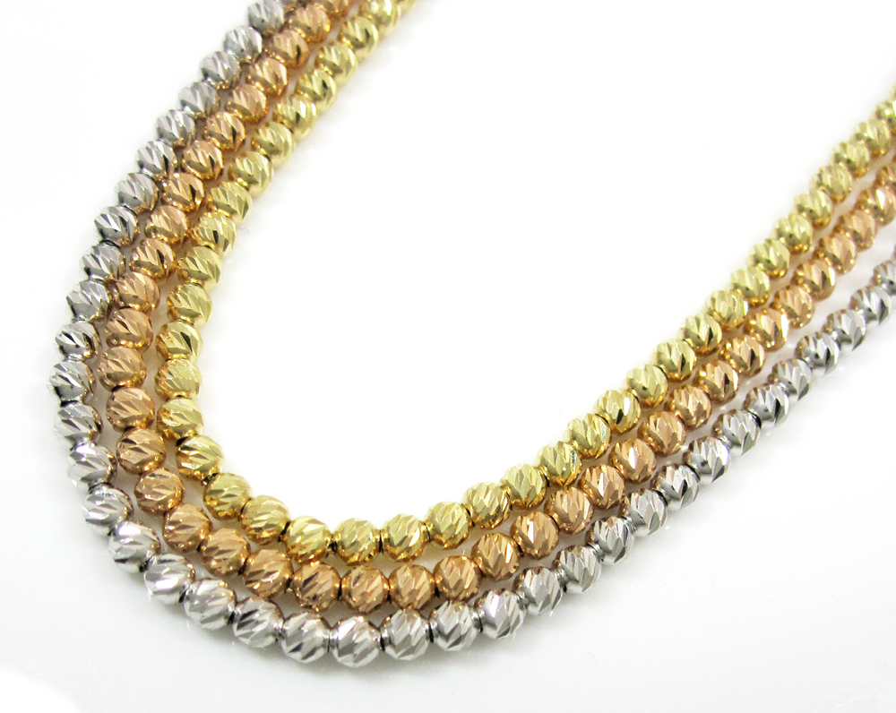 gold yellow chain chains diamond cut franco mens link mm