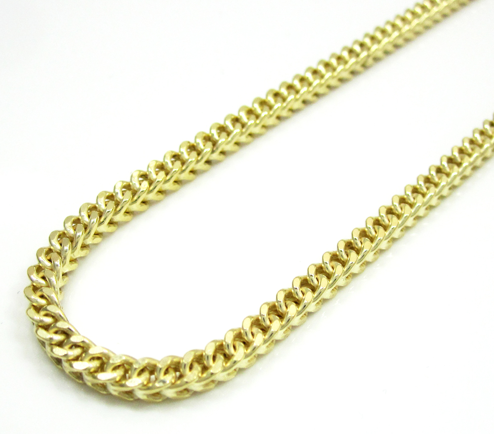 "3.65 Grams 20"" 14k Solid Yellow Gold Italian Franco Chain//Necklace"