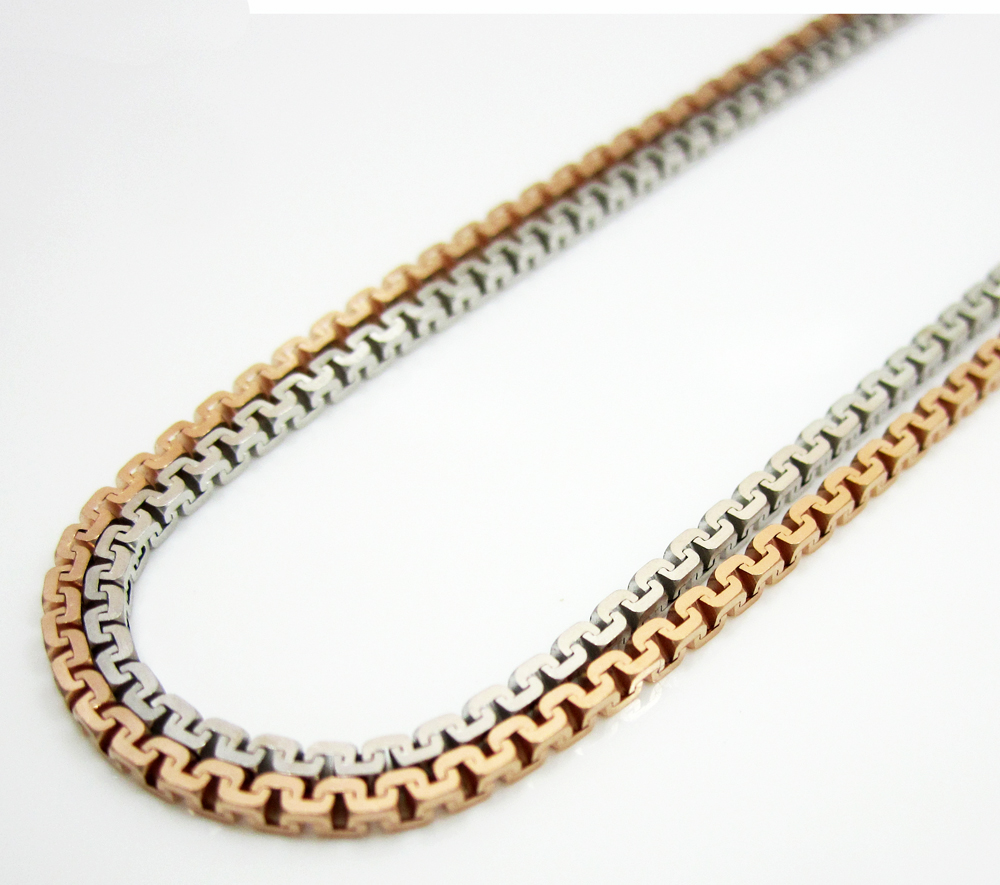 14k solid gold sharp box link chain 16-24 inch 1.3mm