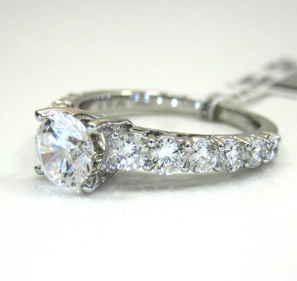 18k white gold graduating stone engagement ring 1.26ct