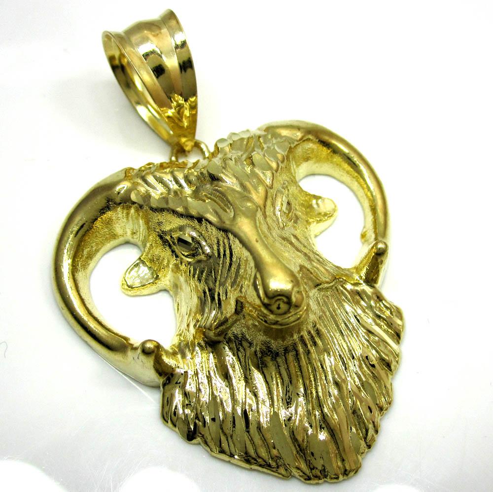 10k yellow gold aries ram pendant