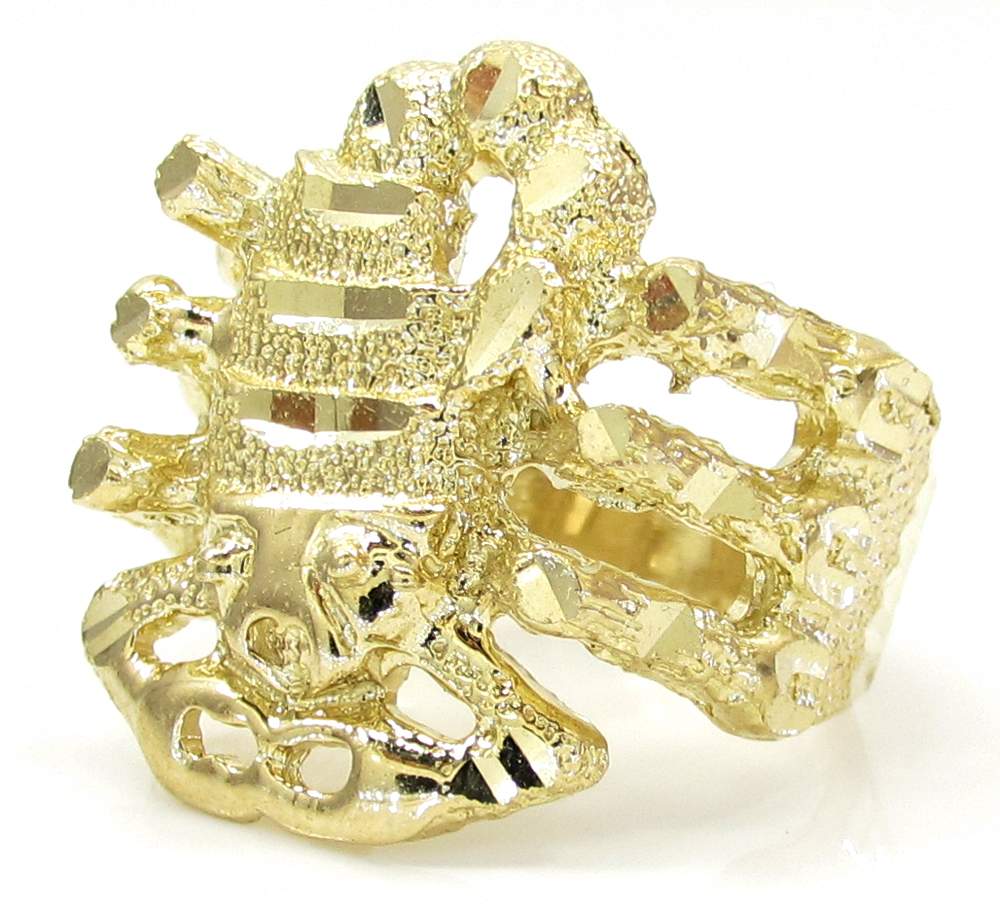 10k Yellow Gold Scorpio Zodiac Ring