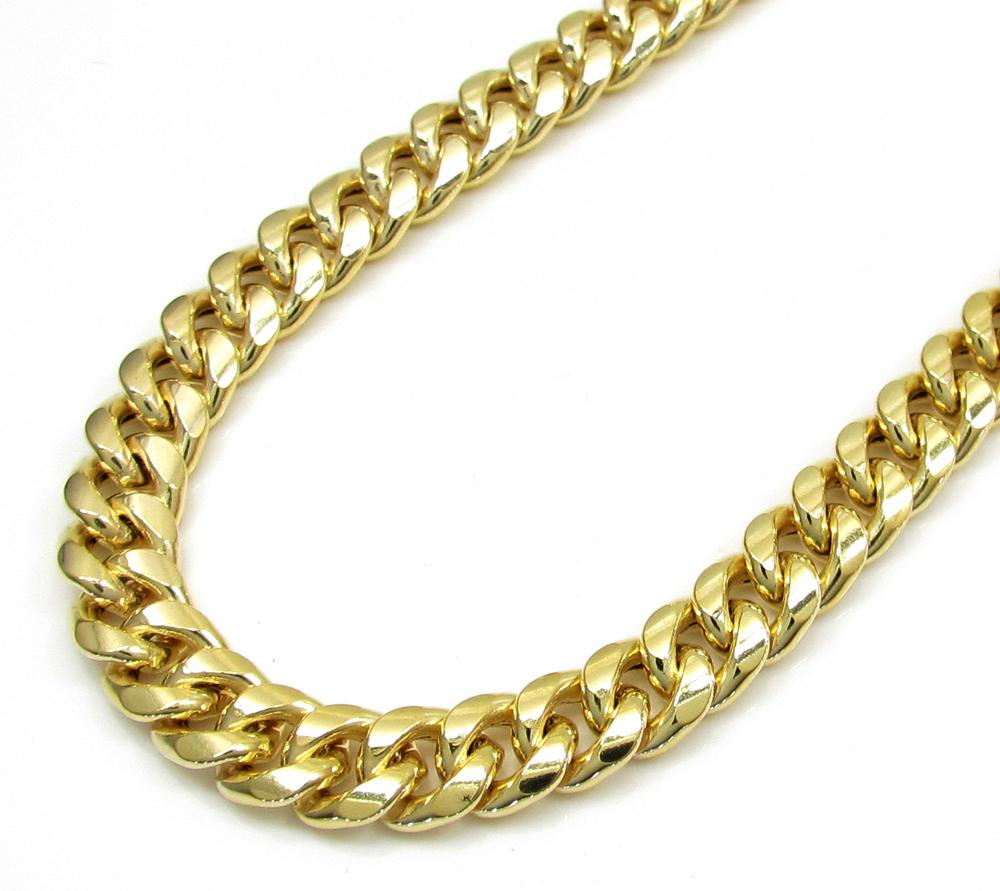e268384a607c68 10K Yellow Gold Hollow Cuban Miami Chain 22-36 Inch 6mm