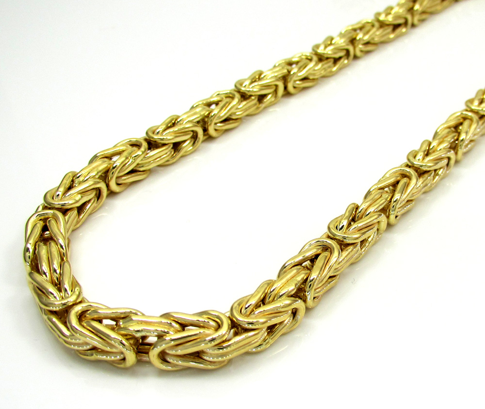 yellow solid byzantine grams itm chain necklace gold new mm