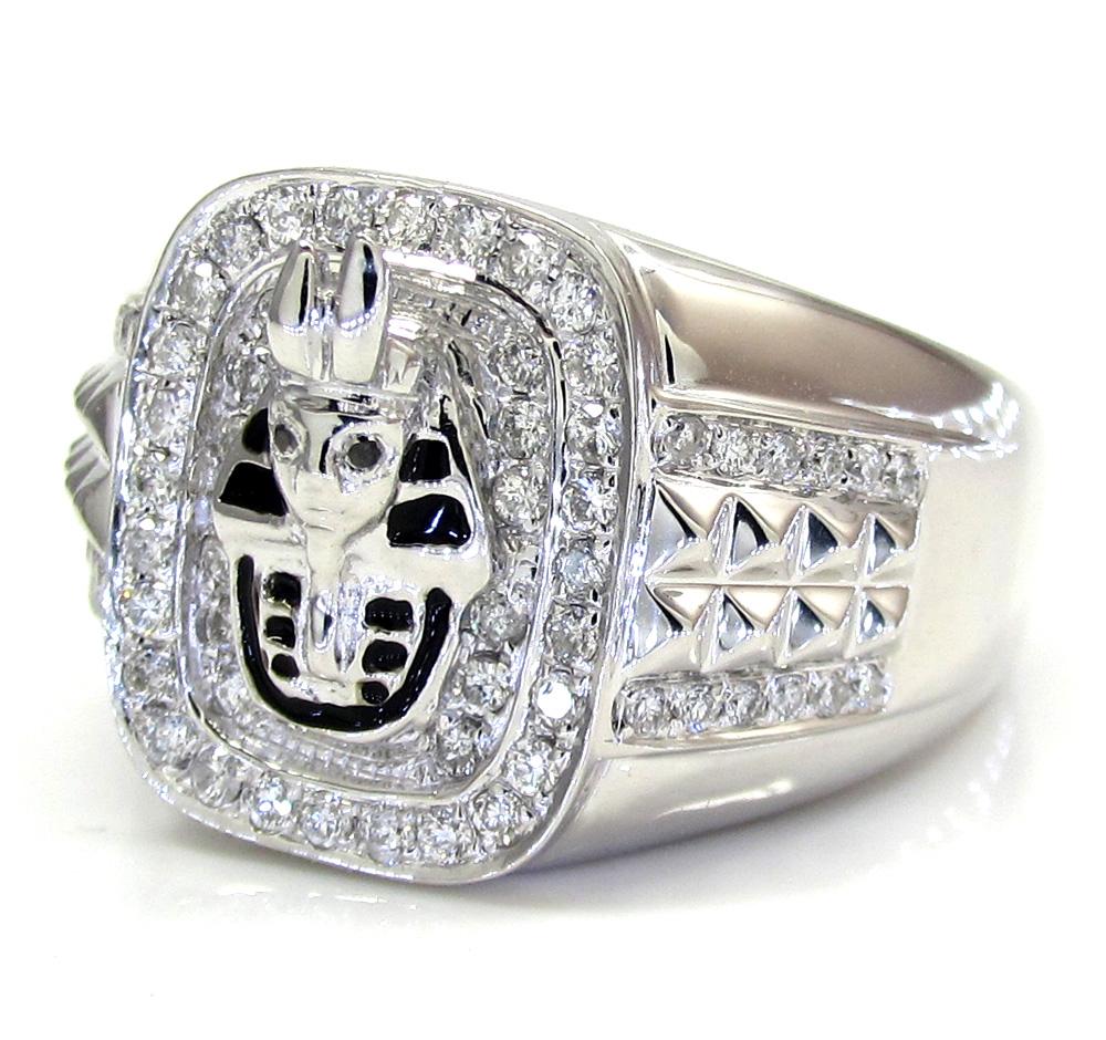 14k White Gold Diamond Pharaoh Ring 0.53CT