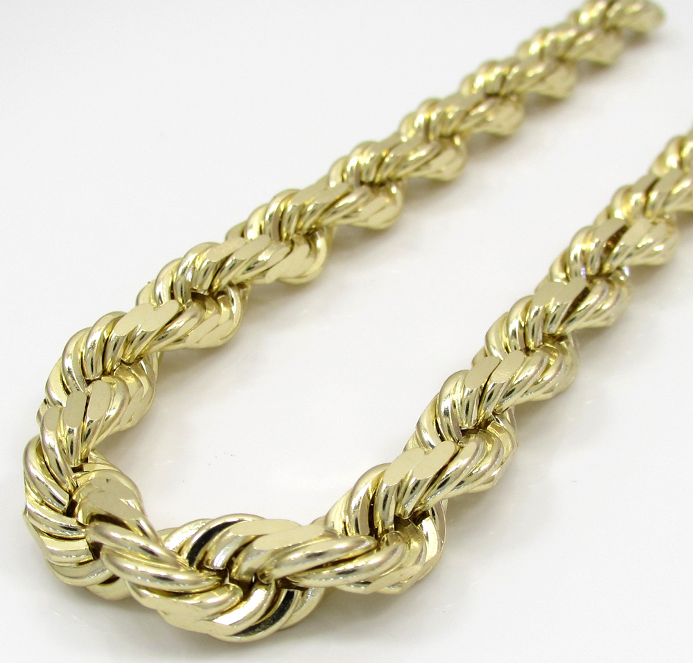 link gold inch bullet hollow yellow mens chain chains