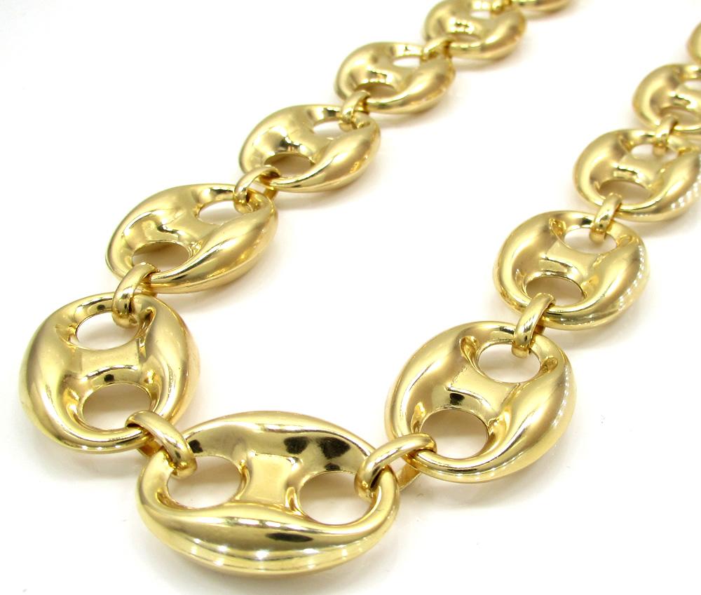 e32977335fa 10K Yellow Gold Gucci Link Chain 26-32 Inch 16.50mm