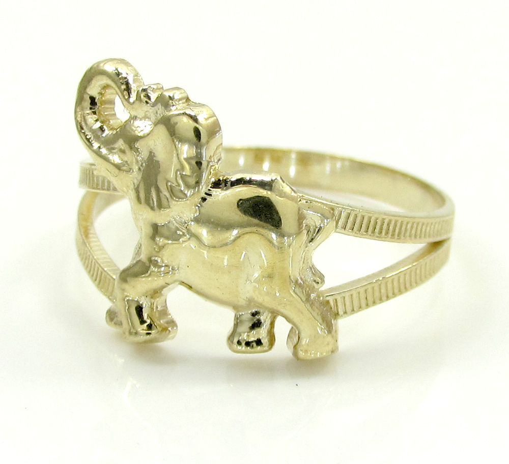 pin sterling fashion ring rings silver lucky engagement band elephant walking