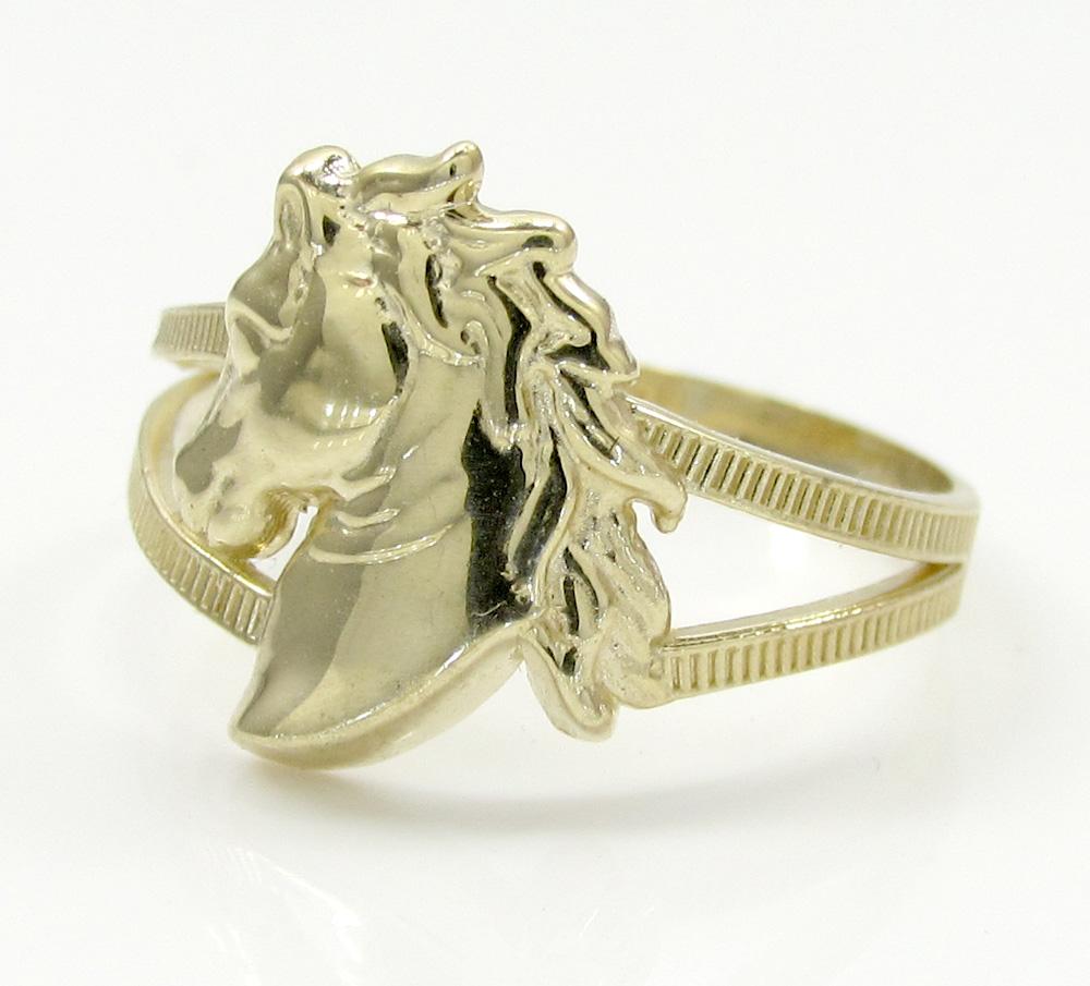 10K Yellow Gold Horse Head Ring