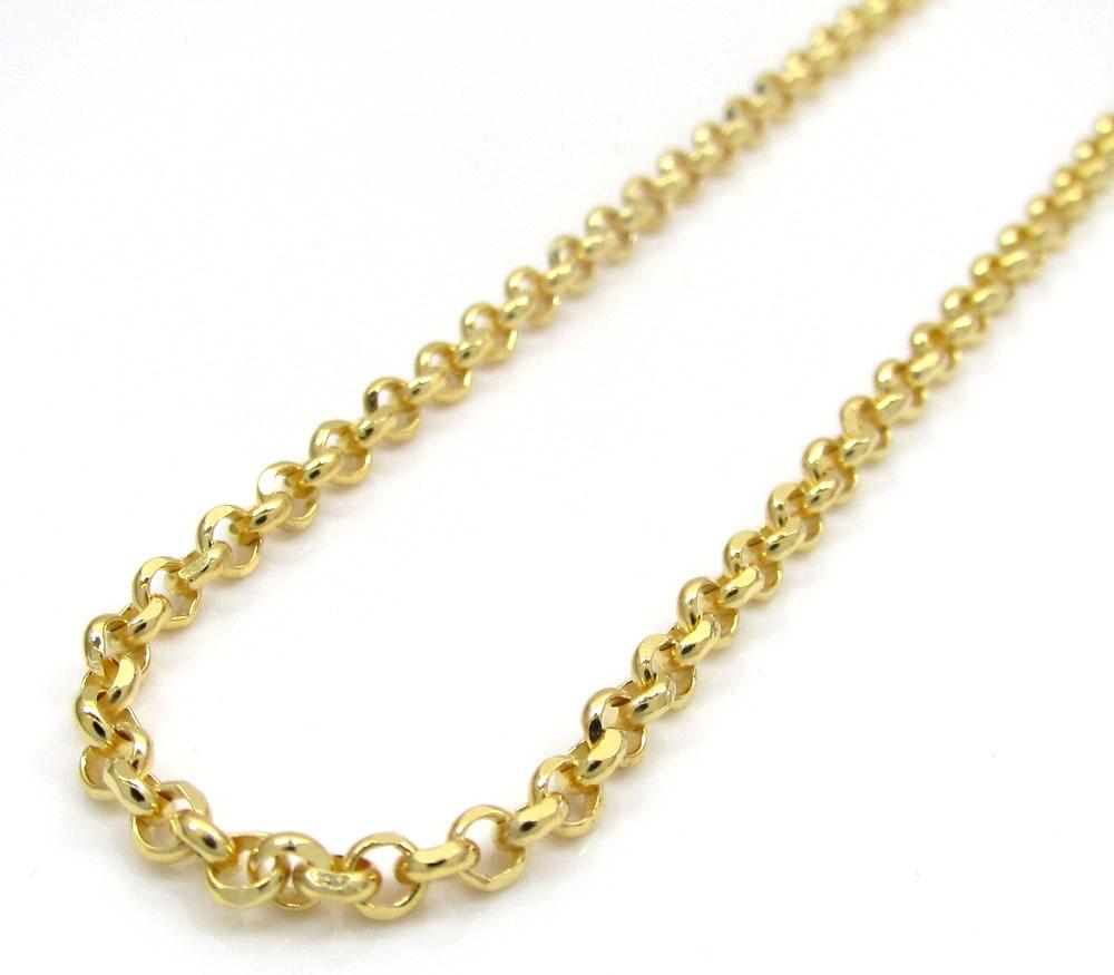 Rollo Chain 18 Inches Long 14Kt Gold Rollo Chain