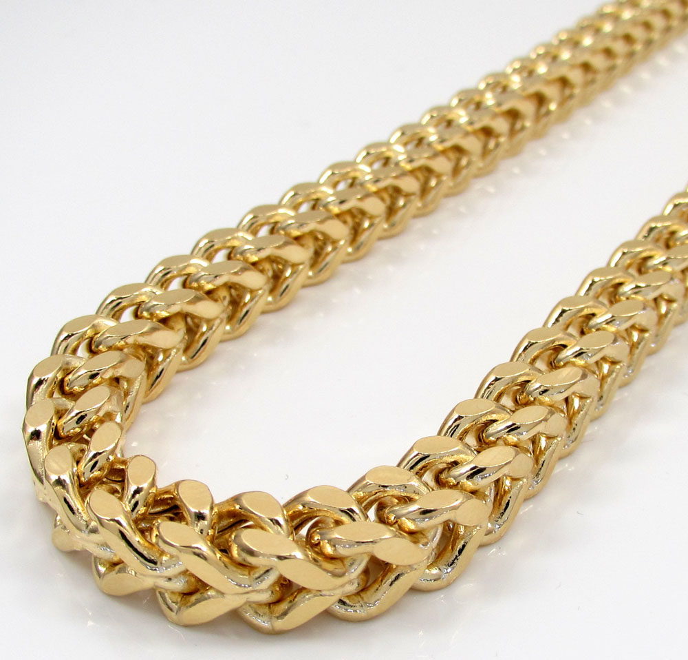 10k yellow gold hollow xxxl franco chain 20-34 inch 7mm