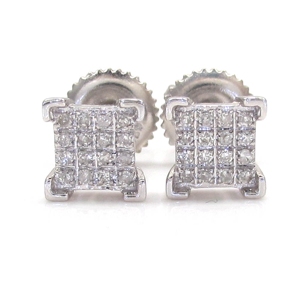 925 White Sterling Silver Diamond Earrings 0.20CT