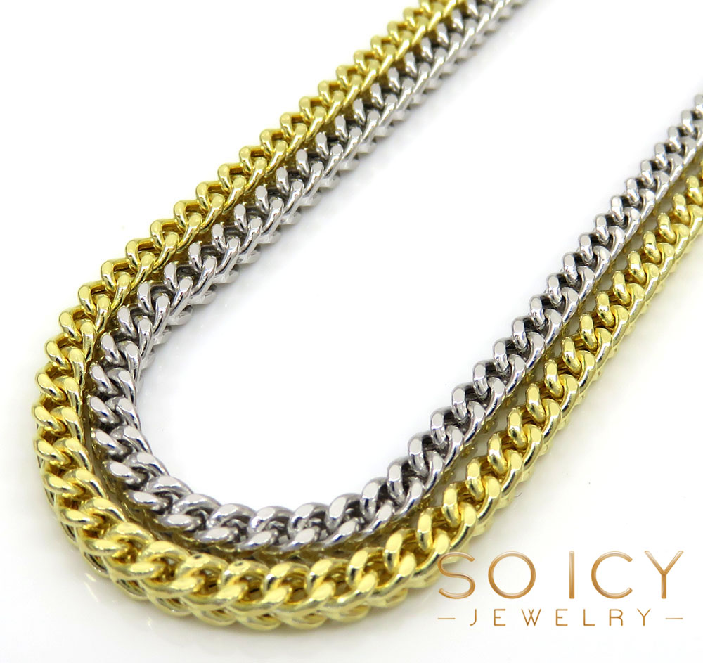 14k gold hollow box franco chain 20-30 inch 2.5mm