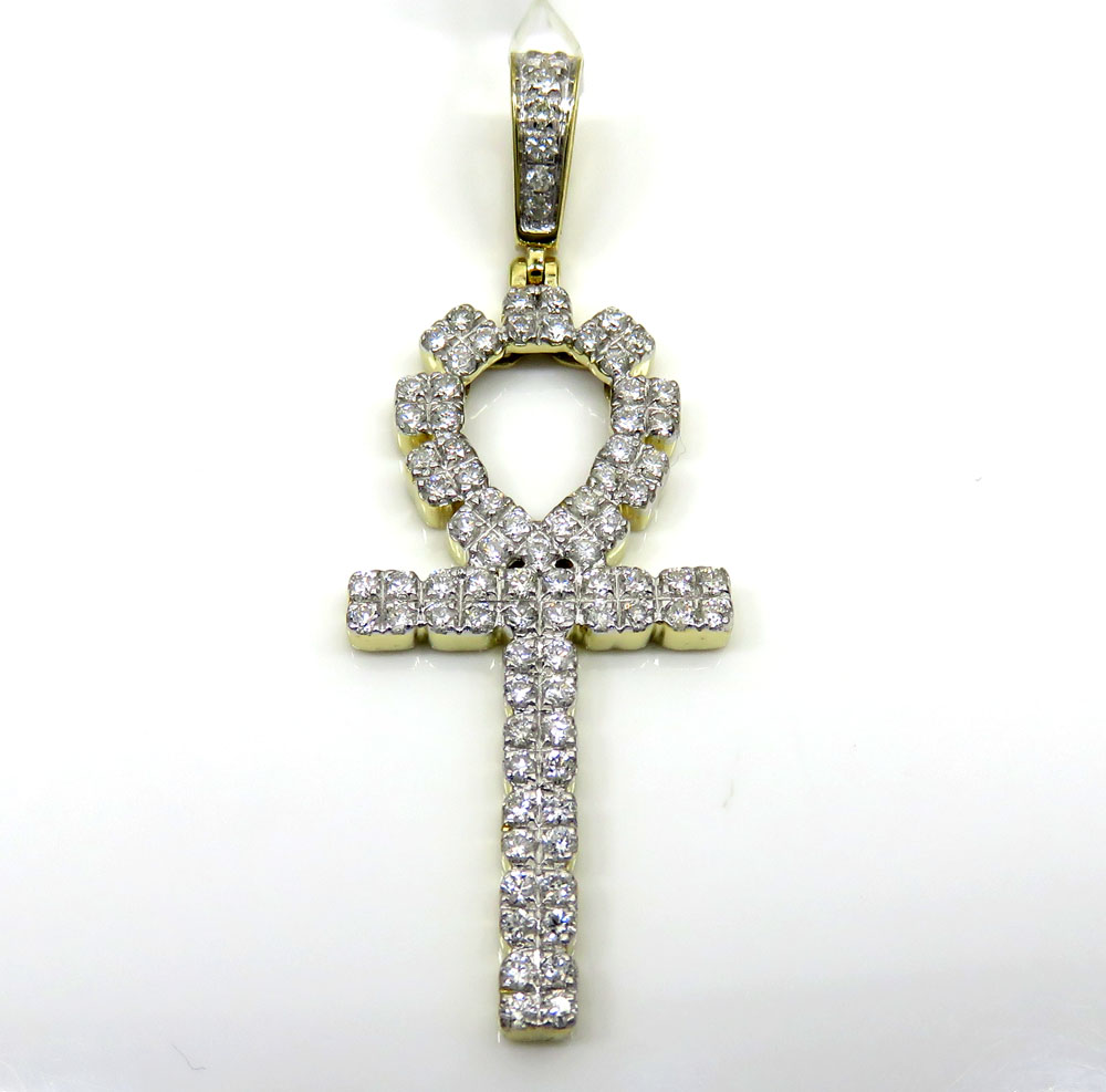 gold square two itm cross pendant crucifix with tone inri only sign